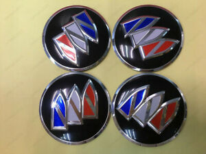 4x 65mm Black Wheel Center Hub Caps Cover Badge Emblem Decals Stickers For Buick