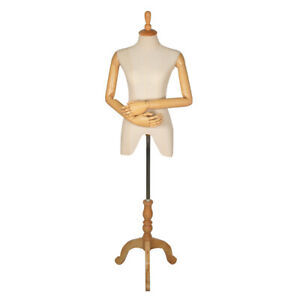 28 5 Female Upper Body 3 4 Torso Mannequin With Adjustable Arms 3 Legged Base