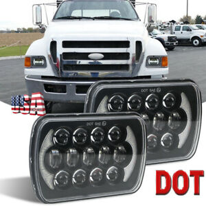 New 105w 7x6 Led Headlights For Ford Super Duty Truck F550 F600 F650 F700 F750