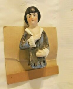 Vintage Half Doll For Pin Cushion Porcelain Flapper Girl Art Deco Germany