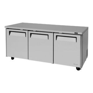 Turbo Air Mur 72 n 3 Solid Doors Undercounter Refrigerator