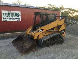 2012 Caterpillar 257b3 Compact Track Skid Steer Loader W New Tracks