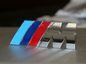 M Sport Tri Color Chrome 3d Emblem Logo Badge Sticker M Tech
