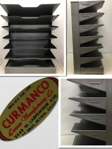 Curmanco Metal 7 Tier Slots Desk Tray File Shelf Industrial Organizer 668047