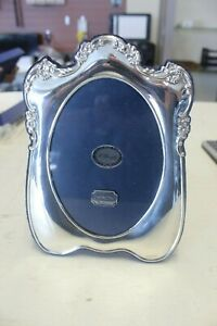 Vintage Oval Sterling Silver Picture Frame In Original Box