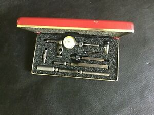 Starrett 711 Last Word Test Dial Indicator Set With Case Great Shape