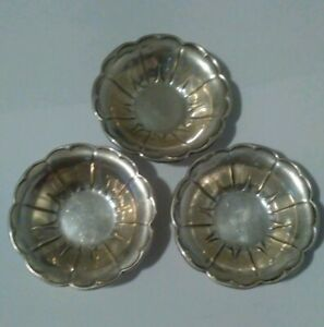 Sterling Silver Nut Candy Dishes 925 Not Scrap One Each