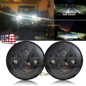2pc 7 Round Led High Low Beam Headlight For Chevy Truck 1947 1957 And 1962 1972