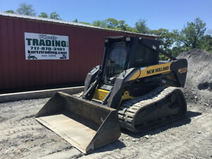 2007 New Holland C185 Compact Track Skid Steer Loader W Cab High Flow