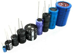 Radial Electrolytic Capacitors 0 1uf To 6800uf 6 3v To 450v Lot Of 3