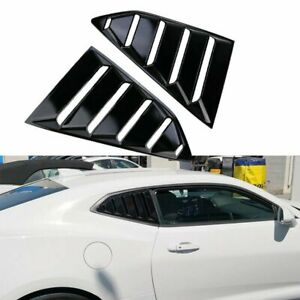 Glossy Black Rear Window Louver Sun Shade Cover Shield For 2016 19 Chevy Camaro
