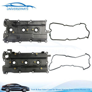 Front Rear Valve Cover For 2002 2006 Nissan Maxima Quest Altima Murano 3 5l V6