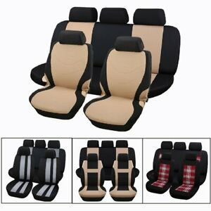 Universal Lattice Pattern Auto Car Seat Covers Trendy Vehicle Interior Decor To