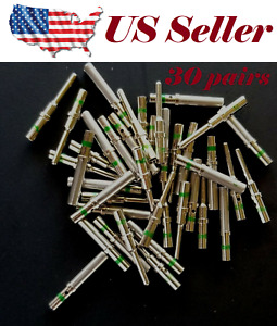 30 Pairs Deutsch Dt Series Solid Pin Connector Male Female 60 Pcs