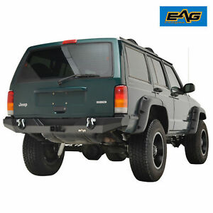 Eag Fits 84 01 Jeep Cherokee Xj Steel Rear Bumper W Hitch Receiver
