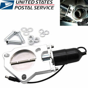 3inch 76mm Racing Electric Exhaust Cutout Valves Control Motor Kit Fits Bmw E3