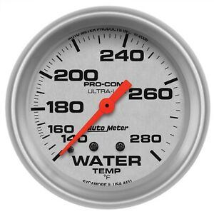 Autometer 4431 Ultra lite Mechanical Water Temperature Gauge