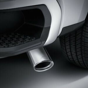 2019 Chevrolet Silverado 1500 Dual Wall Angle Cut Exhaust Tip With Bowtie Logo