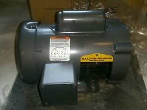 Baldor 48c Frame 1 4hp With Base Tefc 115 230v Ac Motor 1725 Rpm