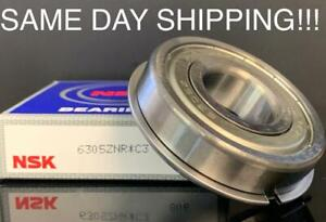 Nsk 6305 Z Nr Deep Groove With A Snap Ring Ball Bearing Same Day Shipping
