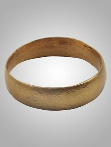 Authentic Ancient Viking Wedding Ring Medieval Ring Size 9 19 2mm Brr1013