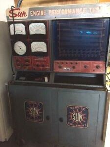 Vintage Sun Scope Model Ss 400 Engine Performance Tester In Very Nice Condition