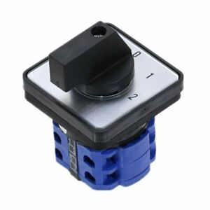 20a 660v 3 Position 0 1 2 8 Terminals Rotary Cam Changeover Switch