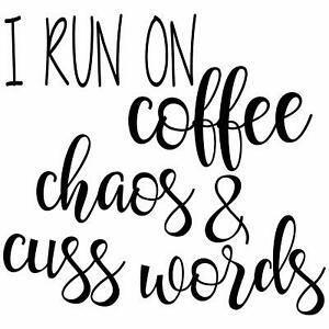I Run On Coffee Chaos Personalized Return Address Self Inking Rubber Stamp