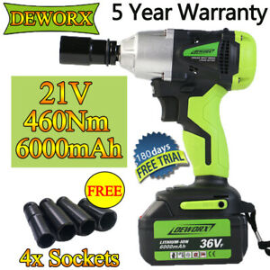 1 2 21v Cordless Impact Wrench Gun Auto Tire Disassembly 460nm Variable Speed