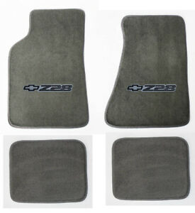 New Carpet Floor Mats 1982 2002 Camaro Z28 Embroidered Logo In Black On Fronts