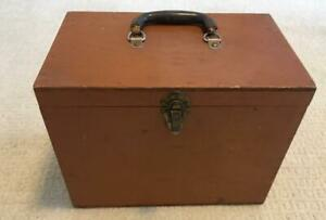 Vintage Shabby Cottage Chic Handmade Wooden Wood Painted Storage Box 13 5x8 5x11
