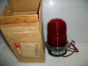 North American Signal Co Red 24 V Dc Strobe