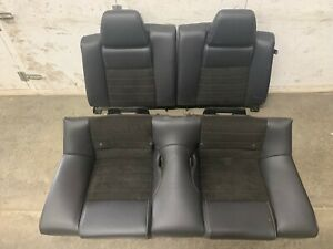 2011 2014 Mustang Gt cs Coupe Rear Seats Black Leather suede Oem