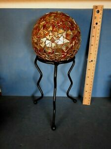 Real Tall Black Metal Display Stand For Sphere Ball Or Rock