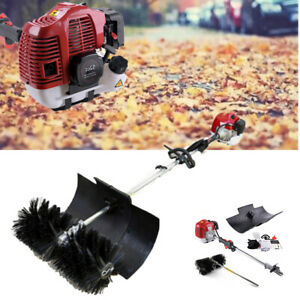 52cc Gas Power Hand Held Concrete Cleaniing Driveway Dirt Snow Sweeper Broom Us