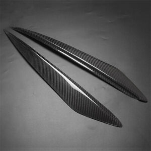 Carbon Fiber Headlight Cover Eyebrows Eyelid Trim Sticker Fit For Mazda 3