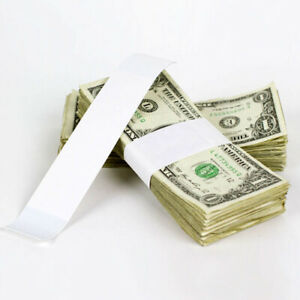 10 000 Plain White Self Sealing Currency Bands Blank Money Bill Strap Band