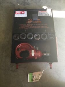 Burndy Y35bh Hypress Cable Wire Crimper With 6 Dies Case