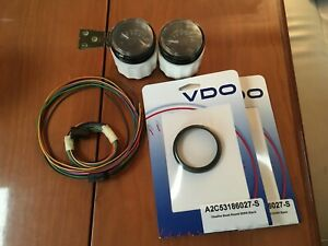 2 Vdo A2c553413355 Viewline Onyx 250 F Water Temperature Gauges