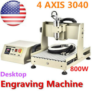 4axis 800w Vfd 3040 Router Engraver Wood Pcb Engraving Milling Machine 3d Cutter