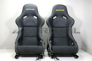 New Genuine Mercedes benz R197 Sls Amg R190 Amg Gt Leather Recaro Seats Yellow