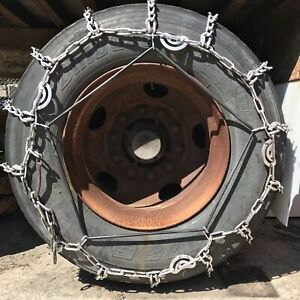 Snow Chains 305 70 18 Lt Alloy Vbar Two Link Tire Chains Rubber Tensioners