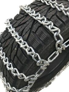 Snow Chains 305 70 18 Lt Alloy Vbar Two Link Tire Chains Spring Tensioners