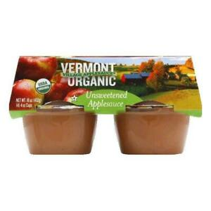 Vermont Village Organic Applesauce Unsweetened Case Of 6 24 Oz 3 Pack