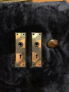 Antique Flashed Copper Craftsman Door Knob Plates