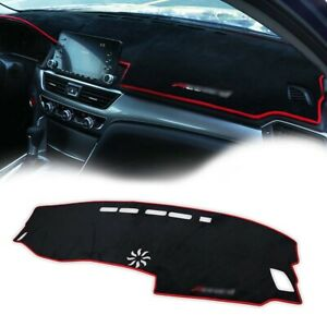 1pc Car Dashboard Dashmat Sun Protector Pad W red Rim For 2018 2019 Honda Accord