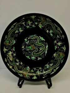 Antique Chinese Dragon Charger Plate Kangxi Mark