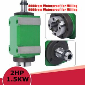 1 5kw 2hp Spindle Unit Cnc Cutting Drilling Milling Power Head 6000 8000rpm