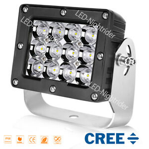 6 Square Led Driving Lights Cree Spot 6500k Work Lights For Off Road Ford Jeep