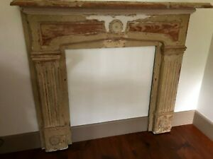 Antique Vintage Fireplace Mantle Surround